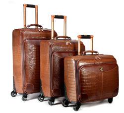 Chariot à roulettes en cuir polyuréthane imperméable bagages Loisirs voyageant d'affaires Voyage Sac de Shopping de l'école valise CAS (CY6851)
