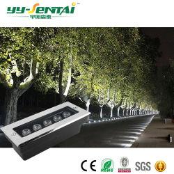LEIDEN van de Verlichting van Inground van de tuin RGB Waterdichte IP68 Openlucht RGB 9W Ondergronds Licht