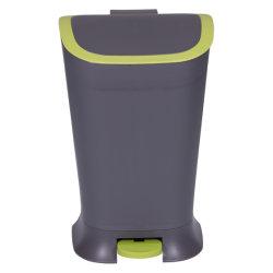 Hands Free Переверните верхнюю пластмассовую мусорное ведро с помощью педали для кухни, дома и офиса; корзины, отходов и мусора может, пластмассовые изделия