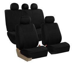 Ligero y refrescante Cubierta de asiento de tela negra