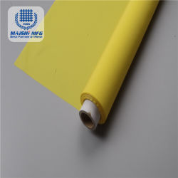 Cor Amarelo 130t Serigrafia tecido de malha de 100% de poliéster