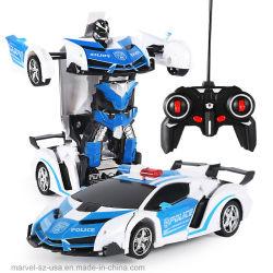 RC automóviles deportivos de conducción de los robots de transformación de la unidad de control remoto de los modelos de coche
