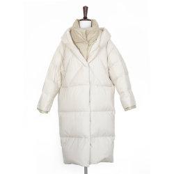 겨울 여성 패션 코튼 V 칼라 재킷, 거짓 디자인 패션 캐주얼 다운 재킷 두 조각