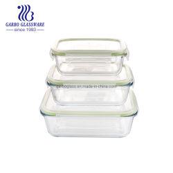 Horno de microondas Caja de seguridad alimentaria de vidrio de borosilicato de contenedor Recipientes de cristal conjunto TZ3 GB13G14C-1