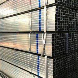 Section creuse du tuyau en acier / revêtement de zinc carré de 40g Gi/tube galvanisé de tuyaux en acier