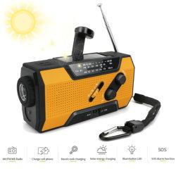 L'énergie solaire d'urgence de la manivelle numérique AM/FM Radio portable météo NOAA Lampe torche lampe de poche rechargeable panneau solaire