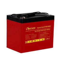 Cspower 12V75ah scellé VRLA FM Solar-Photovoltaic Carton de la batterie plomb-pompage Street-Lighting Systems-Solar-/Soft-Starters-convertisseur