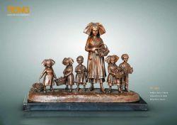 Escultura em bronze europeia (EP-401)