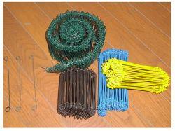 Double boucle de fil recuit Tie (noir, galv. Fil, attacher le fil enduit de PVC)