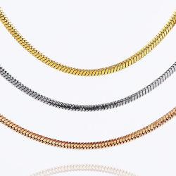 Praça de Aço Inoxidável Hip Hop Snake Bracelete Corrente Jóias de colar para Mulheres Design de jóias Pendente