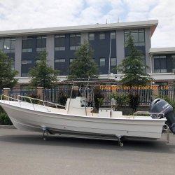 Liya 25 pieds de navire de pêche commerciale en fibre de verre Bateau de pêche léger