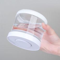 Handgemaakte High Borosilicaat luchtdichte glazen bewaarpotten set met kunststof Deksels