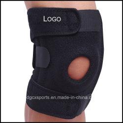 Parentesi graffa di ginocchio respirabile del neoprene Shockproof, parentesi graffa della Aprire-Patella per l'artrite, rilievo di dolore unito, ripristino di ferita di sostegno del ginocchio con registrabile