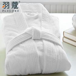 파이브 스타 백색 호텔 남자 여자 욕의를 위한 주문 로고 100%년 면 중국 목욕 겉옷 면
