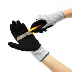 Tagliare i guanti resistenti di sicurezza di costruzione dell'en 388 del rivestimento del nitrile del Sandy dei guanti del lavoro