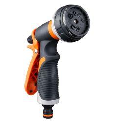 Pulverizador de pistola de mangueira de jardim Orange, modo multifunções com padrão de 8 Pistola de aspersão para mangueira de água de irrigação