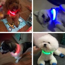 USB 책임 LED 애완견 빛을내는 고리