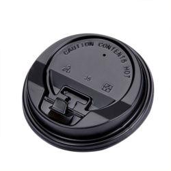 使い捨て可能な90口径の熱い飲むコップのプラスチックコップのふたのミルクの茶ふた