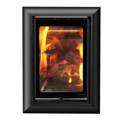 家庭暖房のためのFirplaceの現代家具を焼き付ける出された埋め込まれた黒い金属木