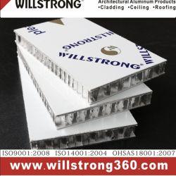 Revêtement en aluminium Panneau alvéolé façades de panneaux sandwich alvéolaire en aluminium