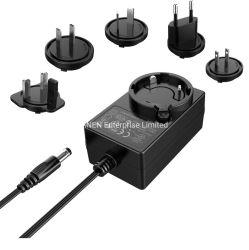 Certificazione UL FCC CE 24 Watt max 12 V 1A 2A Alimentatore switching da 24 V 1A adattatore c.a./c.c. SMPS rimovibile da 1,5A Trasformatore da parete da 18 V 20 V.