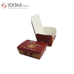 مستهلكة [وهيت ببر] ورق مقوّى وجبة غداء [تكوي] علبة صندوق مع مسيكة وطباعة