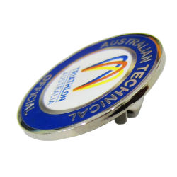 Goedkope Logo Printing metalen badge van hoge kwaliteit souvenir naambadge