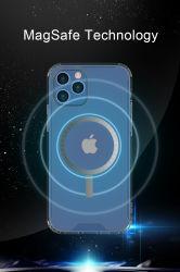 iPhone 12のプロ最大移動式裏表紙のiPhone 12のMagsafeのケースのゆとりの電話箱のための透過磁気Magsafeの帯出登録者