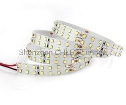صمغ سيليكون مقاوم للماء IP65 24 فولت عالي اللوم SMD2835 مزدوج الصف LED Strip 196LED/M 15mm PCB