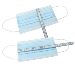 Boite de 50 Masques Chirurgicaux 3 Plis un Elastiques En14683: 2019 Caja de 50 3 telas elásticas Las mascarillas quirúrgicas EN14683: 2019
