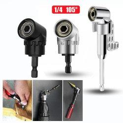 105 앵글 스크류드라이버 세트 소켓 홀더 어댑터 조정식 핸드 툴 각도 나사 드라이버 도구 1/4'' 육각 비트 소켓