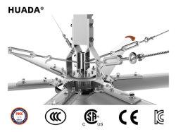 Ventilador de techo del rango de velocidad del viento 1~5m/s gran ventilador de techo Industrial para Operaciones Ambientales especiales