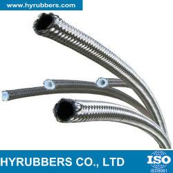 Flexible en acier inoxydable tressé en Téflon PTFE flexible en caoutchouc hydraulique