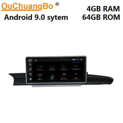 Voiture Ouchuangbo radio GPS Android écran pour l'A6 A7 C7 avec 4G 2012-2018 1920*720 à 8 coeurs et de la Chine prix d'usine directe