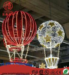 Natal de iluminação LED grande motivo de balão travando a luz para a decoração do Shopping