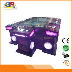 La machine annexe de jeu de bouton poussoir de manche d'arcade de fente de poissons fonctionnent avec la pièce de monnaie