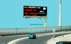 省エネP10屋外のフルカラーLEDの交通標識か伝言板(50%力節約)