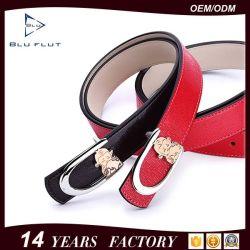 ファッション輸出純正 Cowhide Red Leather Buckle Women Waist ベルト