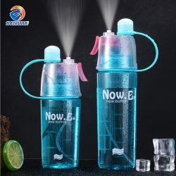 400ml vide de gros de nouvelle conception créative biodégradable Spray bouteilles d'eau en plastique Portable avec logo personnalisé Sports Bouteille d'eau de voyage