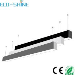 AC100-240V LED Colgante regulable luz del tubo de armazón lineal para la oficina moderna