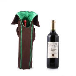 父の日のワインのギフトの単一のびんはファブリック袋卸し売りReuseableを袋に入れる