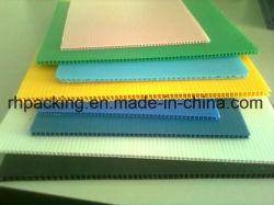 Желтый синий белый 4мм-10мм гофрированный пластиковый лист / платы для упаковочных материалов