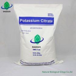Additivo del citrato del potassio del commestibile per le droghe usando con lo standard FCC8