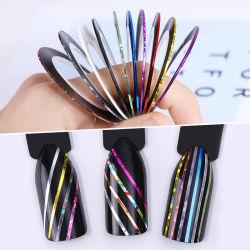 Matte Glitter striping de bande d'ongles nail art