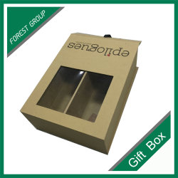 Brown Jewelry Gift Paper Box mit PVC Window