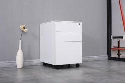 Governo mobile d'acciaio del basamento di memoria di archivio del metallo bianco di uso dell'ufficio del cassetto di alta qualità 3
