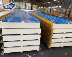 prix d'usine mur de ciment et de toit en acier isolé PVC en polyuréthane/IRP/laine de roche/PG/EPS panneau sandwich.