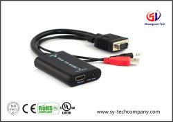 USB 힘을%s 가진 HDMI 케이블에 VGA + 1080P까지 3.5mm 오디오