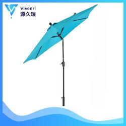 La terrasse extérieure de 9 ft parapluie Parapluie Table sur le marché de triage 1,5 Pole Bouton poussoir inclinaison facilement