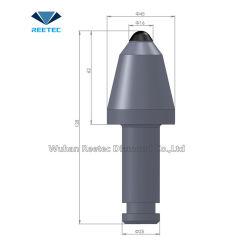 탄광 장비 천공 툴 원추형 피크 절단 툴(스텝 생크 25mm 포함